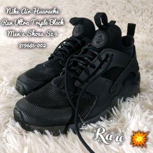 RARE Nike Air Huarache Run Ultra Triple Black Men'